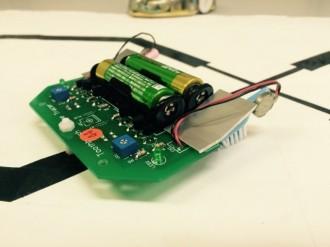 振動モータで動くライントレースロボ
